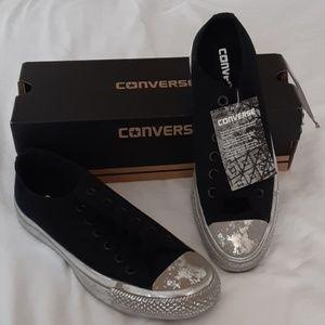NIB Black and Silver Converse